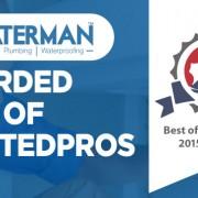 Waterman Awarded Best Of Trustedpros 2015 | Waterman Plumbing Toronto
