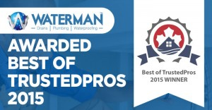 Waterman Awarded Best Of Trustedpros 2015 | Waterman Plumbing Toronto
